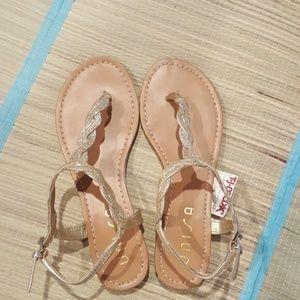 BRAND NEW Gold Glitter Sandals